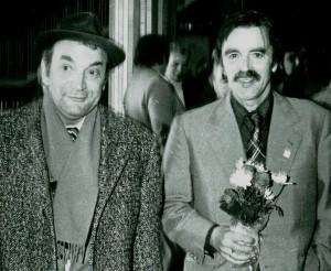 Viktor Korchnoi og Arnold J. Eikrem (tv). Foto ved Øystein Brekke
