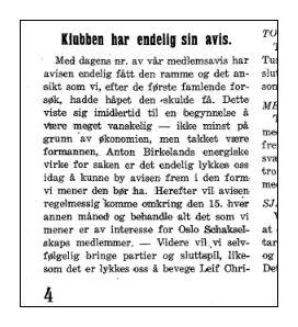 Oslo schakselskaps medlemsblad nr 5 1934