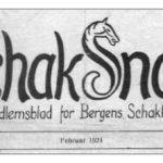 Schak-Snak – Bergens Schakklubbs første medlemsblad